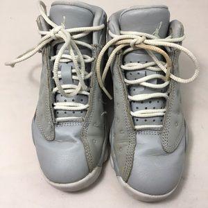 Jordan Shoes - Jordan Retro 13 Girls' Preschool Wolf Grey/White